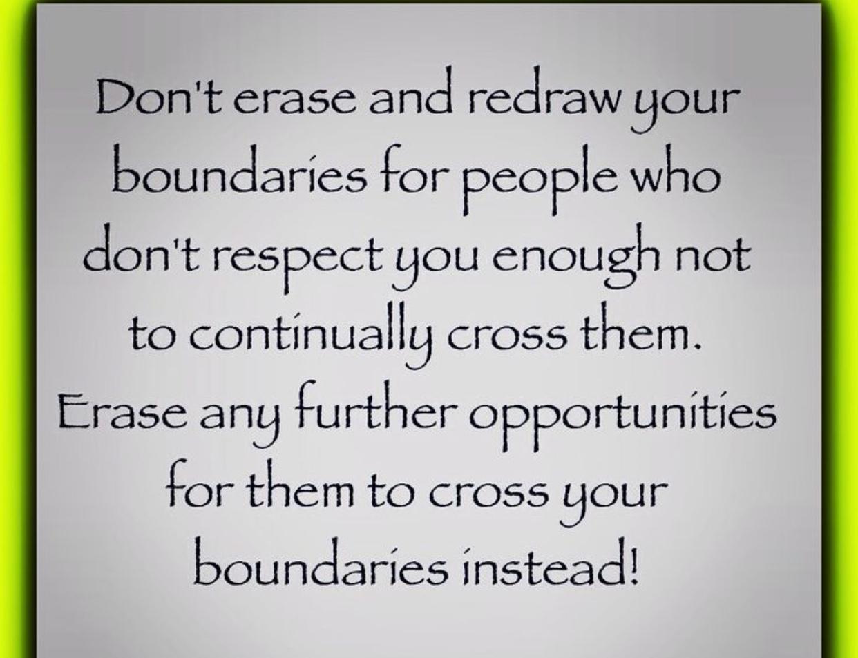 people who cross boundaries